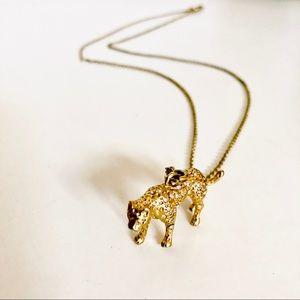 J CREW Jaguar Cat Animal Charm Pendant Necklace